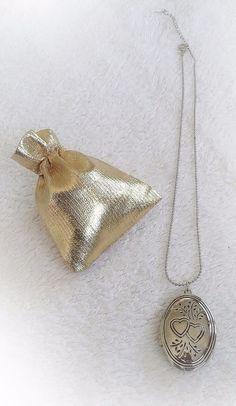 Collier avec médaillon porte photo couleur argent