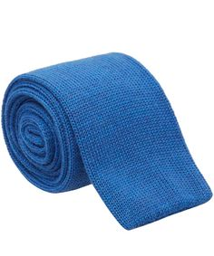NICK BRONSON - FINE WOOL KNITTED TIE - MARE - BLUE