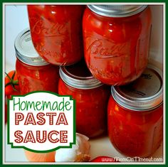 Homemade Pasta Sauce {Recipe}: Someday when I have a garden