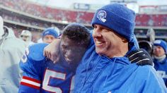 Lawrence Taylor with Coach Parcells