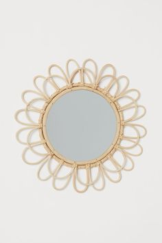 Spejl med bambusramme - Beige/Bambus - Home All Sun Mirror, Bamboo Mirror, Wicker Mirror, Beige Art, Grands Vases, Gift Card Shop, H&m Home, Music Gifts, H&m Gifts