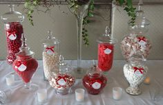 Red and White Candy Bar