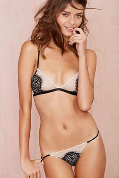 Nasty Gal Lace Is More Thong