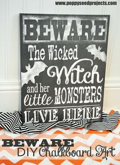 Beware Chalkboard art, the perfect Super Saturday craft idea.  It's easy, it's cheap, and it comes in different holidays, what more can you want.