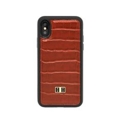 c146672609978 PRE-ORDER    iPHONE X HÜLLE CROCO BRAUN