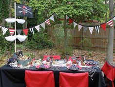 Pirate Party - maybe add some blue to red, black, and white color scheme