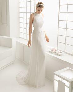 DUENDE vestido de novia en muselina de seda.