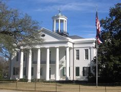 Hinds County Courthouse - Built during 1857-1859. Listed on the National Register of Historic Places and revered as one of the most perfect examples of Greek Revival architecture in the United States, this beautiful building served as a hospital for wounded soldiers during the Civil War.