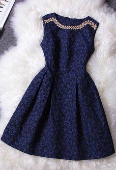 Retro Diamond Sleeveless Dress