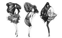 desenha ai, drawing, fashion, girl, hair