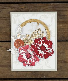 wieesmirgefaellt.de | Altenew Inspiration Challenge | Wild Hibiscus + Beautiful Day The Ton Stamps, Altenew Cards, Hibiscus, Beautiful Day, Cardmaking, Stamping, Card Ideas, Crafting, Challenges