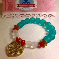 Sea Brezze Bracelet. Woman Bracelet. Blue por Detallitosamano