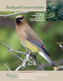 This site has a PDF you can download on backyard conservation practices. From the Natural Resources Conservation Service
