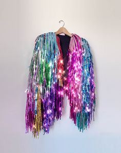 Rachel Burke is a designer specialising in wearable art pieces made using salvaged garment bases and LOTS of tinsel Festival Wear, Festival Outfits, Festival Costumes, After Life, Partys, Black Fabric, Bunt, Creations, Dress Up