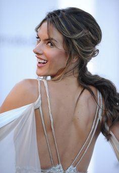 Alessandra Ambrosio Hair Alessandra Ambrosio, Vanity Fair, Cannes, Buy Wedding Dress Online, Portraits, Portrait Art, Brazilian Models, Victorias Secret Models, Poses