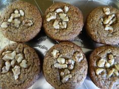 Almond Meal Banana Nut Muffins Recipe - these were good. I made them with butter and mixed in chopped pecans.