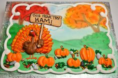 Bethel Bakery - Boycotting Turkey Available on a cake or larger and any sheet cake. Thanksgiving Cupcakes, Thanksgiving Prayer, Thanksgiving Appetizers, Thanksgiving Outfit, Thanksgiving Crafts, Thanksgiving Decorations, Sheet Cakes Decorated, Sheet Cake Designs, Fondant