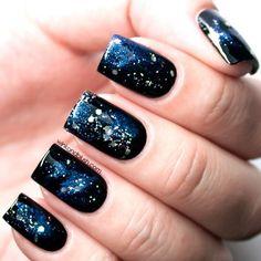 18 Awesome Galaxy Nail Art Tutorials   Nail Design Ideaz
