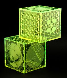Laser cut and engraved colored acrylic puzzle box Laser Cutter Ideas, Laser Cutter Projects, Laser Art, 3d Laser, Laser Cut Box, Laser Cutting, Cnc, Acrylic Box, Light Installation