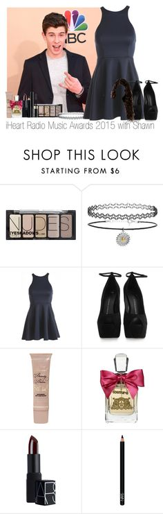 """iHeart Radio Music Awards 2015 with Shawn"" by sleepwalkiing ❤ liked on Polyvore featuring H&M, Topshop, AX Paris, Giuseppe Zanotti, Too Faced Cosmetics, Juicy Couture, NARS Cosmetics, Giorgio Armani, iheartradio and magcon"