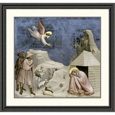 Global Gallery 'Joseph's Dream' by Giotto Framed Painting Print Size: