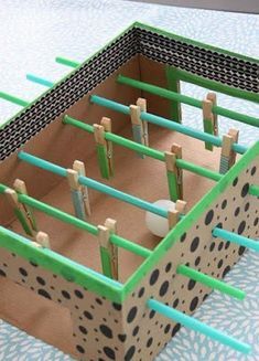 Cardboard Easy Paper Crafts for Kids - art and craft with cardboard - easy cardboard box crafts - maze from cardboard box crafts Indoor Activities For Kids, Toddler Activities, Games For Kids, Diy For Kids, Fun Activities, Kids Crafts, Creative Crafts, Family Crafts, Creative Art