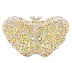 Anthony David Crystal Handbag - Golden Butterfly
