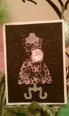 Just because by me. Dress card