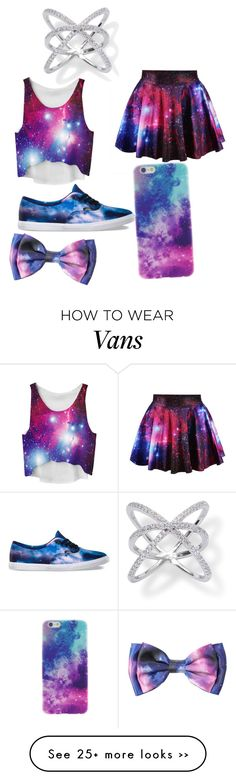"""galaxy"" by lainielovesdivergent on Polyvore featuring moda e Vans"