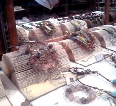 books as Jewelry display