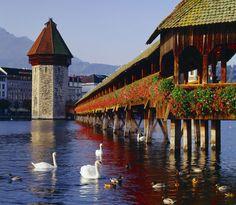 Kapellbrücke, Λουκέρνη, Ελβετία