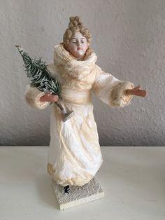 Watte Figur Winter 1900 Märchen Wattefigur Shabby 26cm Jdl   eBay