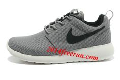 Mens Nike Roshe Run Gray Black Shoes
