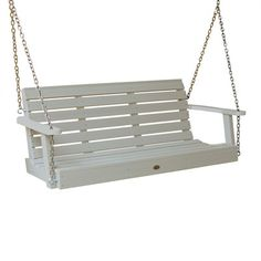 Crafted in the US by Amish artisans, this classic porch swing is the perfect place to read a book.   $330
