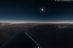 Total Solar Eclipse of November 3, 2013, as seen from 44,000 feet over the Atlantic aboard a 12-person Falcon 900B jet chartered from Bermuda.