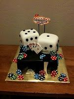 Such a fun casino-themed cake... no clue when I would use it, but absolutely adorable idea.