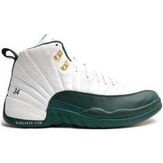Buy Air Jordan XII Ray Allen Boston Celtics Home PE White Clover Green New Arrival from Reliable Air Jordan XII Ray Allen Boston Celtics Home PE White ...