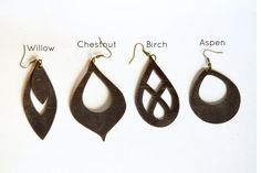 Leather Earrings: Lightweight Statement by LeafyTreetopLeather