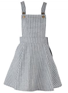 Women's Color Block Striped Adjustable Shoulder Straps Overall Dress.Check more … - Overalls Kawaii Clothes, Diy Clothes, Teen Fashion Outfits, Cute Fashion, Womens Fashion, Cute Dresses, Girls Dresses, Diy Vetement, Overall Dress