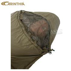 Schlafsack - Sleeping Bag Carinthia TROPEN 200 cm oliv  mit Mücken-Netz,  Mosquito-Net  für  3 Jahreszeiten  Outdoor  Camping  Bushcraft  Survival  Prepper usw.