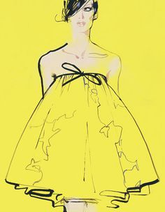 "From the book ""Masters of Fashion Illustration"" by David Downton"