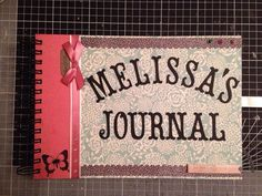 a recently completed custom order for a memory keeping scrapbook