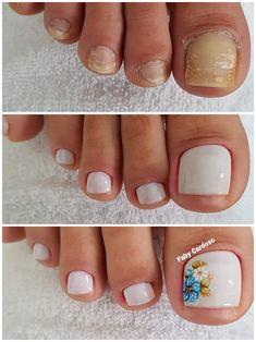 Unhas dos pés com cores e eamaltes perfeitos2.3 Manicure E Pedicure, Natural Nails, Beauty, Zero, 1, Edgy Nail Art, Classy Nails, Cuticle Remover, Manicure Tips