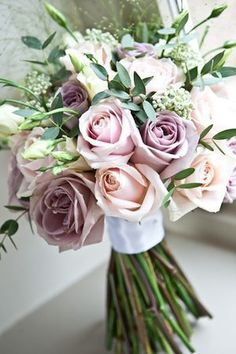 An English Country Wedding in Fields of Beautiful Blue Cornflower...