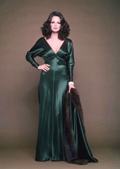 Jaclyn Smith in a publicity still for The Users, also starring John Forsythe.