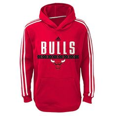 NBA Chicago Bulls Youth Boys 8-20 Pullover Playbook Hood, Red, Large (14/16)