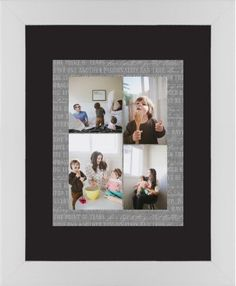 Overlap Photo Gallery of Four Framed Print, White, Contemporary, Black, Black, Single piece, 11 x 14 inches