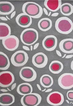 Art for Kids Teppich Blumen, 110x160cm, Wolle