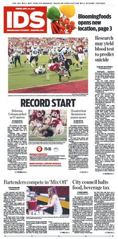 August 29, 2013 | Indiana Daily Student | #IU #IDS