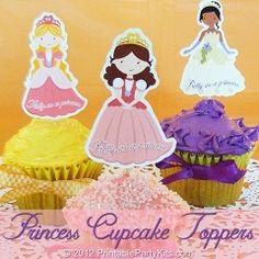 Free Printable Princess Cupcake Toppers